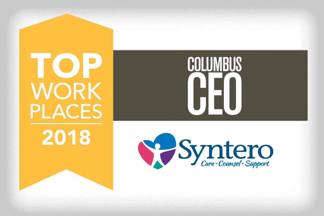 Syntero CEO Columbus Magazine Top Work Place banner